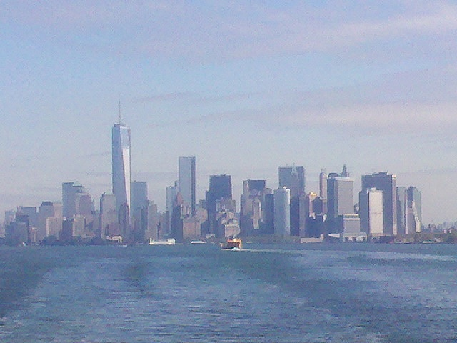 Manhattan Skyline from Staten Island Ferry