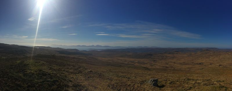 View to the Paps of Jura from Cnoc a'Bharaille